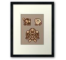Kirby - Wooden Wishes Framed Print