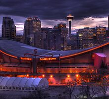 Calgary Downtown & Saddledome by Chad Kruger