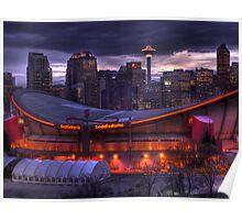 Calgary Downtown & Saddledome Poster