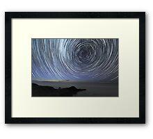 Flinders Star Trails: Ring Effect Framed Print