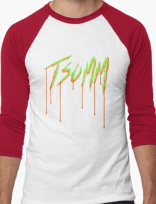 TSOMM Drip (Green & Orange) Men's Baseball ¾ T-Shirt