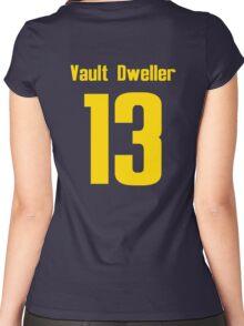 Vault Dweller 13 Women's Fitted Scoop T-Shirt