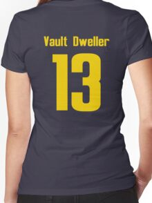 Vault Dweller 13 Women's Fitted V-Neck T-Shirt