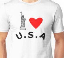 I Heart United States of America Unisex T-Shirt