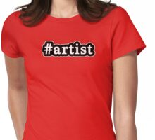 Artist - Hashtag - Black & White Womens Fitted T-Shirt