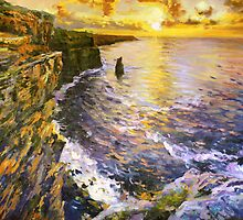 Cliffs of Moher at Sunset by conchubar