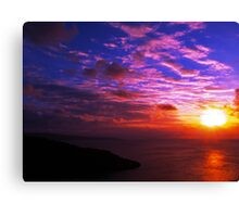 Sunset Over Smith Point and North West Point_2 Canvas Print