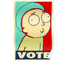 """Rick and Morty """"Vote for Morty"""" Poster"""