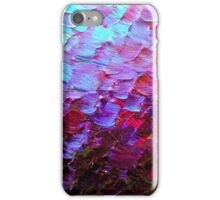 MERMAID SCALES Colorful Ombre Abstract Acrylic Impasto Painting Violet Purple Plum Ocean Waves Art iPhone Case/Skin