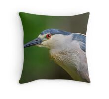 Portrait of a Night Heron Throw Pillow