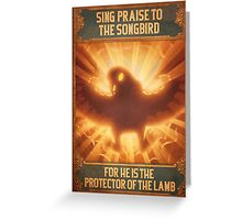 BioShock Infinite – Sing Praise to the Songbird Poster Greeting Card