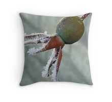 Frosted Rosehip Throw Pillow