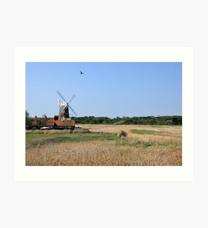 Cley Windmill with royal wedding bunting Art Print