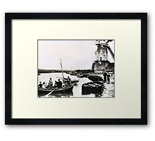 Cley windmill - the shooting party 1888 Framed Print