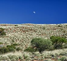 Moon Over Gawler Ranges by Jeff Catford