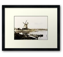 Cley Windmill marsh tide 1900 Framed Print