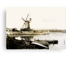 Cley Windmill marsh tide 1900 Canvas Print