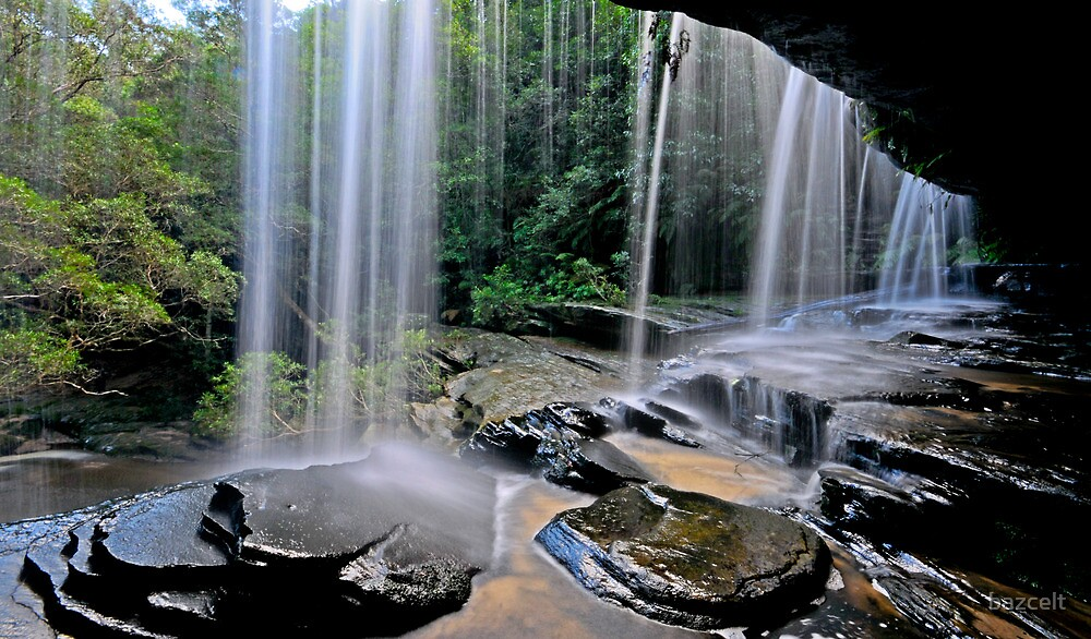 Through the Veil: Behind the Falls #1 by bazcelt