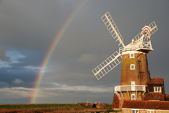 Cley Windmill and Rainbow 2010 by cleywindmill