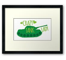 Crazy Tank Lady Framed Print