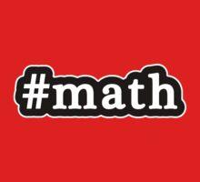 Math - Hashtag - Black & White One Piece - Short Sleeve