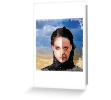 Natalie Old Portman Greeting Card