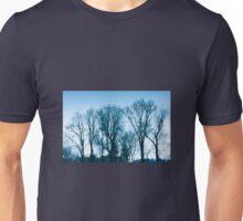 Blue trees sadness Unisex T-Shirt