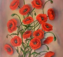 Las Amapolas/The Poppies by Randy  Burns