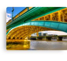 Under a Bridge Canvas Print