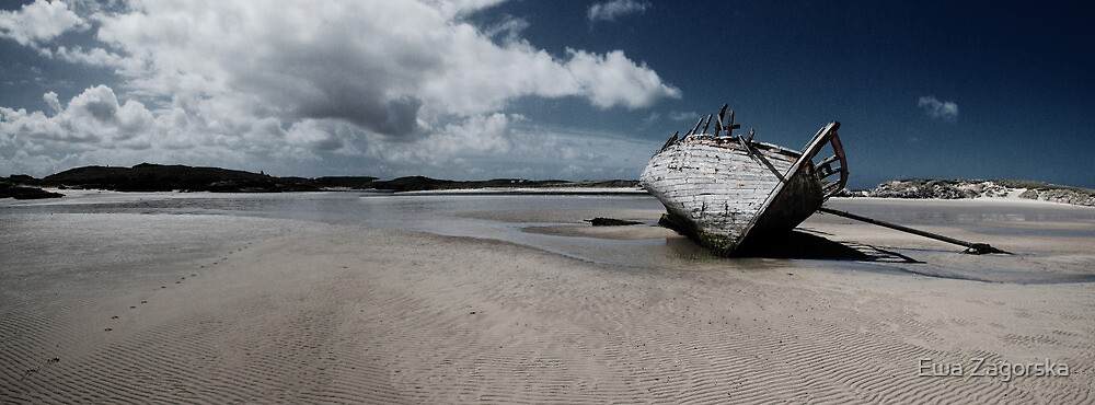 Boat on Donegal Shore, Ireland by Ewa Zagorska