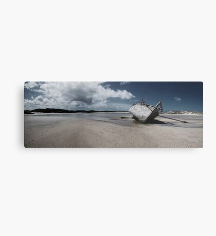 Boat on Donegal Shore, Ireland Metal Print
