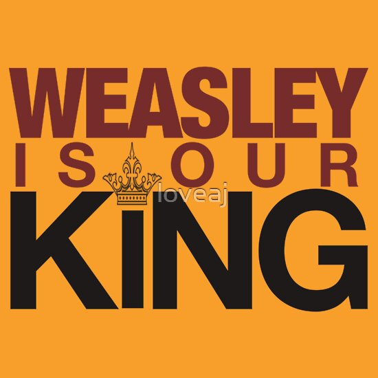 TShirtGifter presents: Weasley is our KING! ALSO IN GOLD