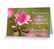 Banner For Gorgeous Flower Cards Greeting Card