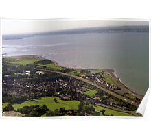 Llanfairfechan from high. Poster
