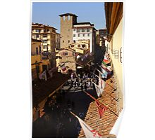 Looking Down at the Ponte Vecchio Poster