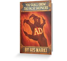 BioShock Infinite – You Shall Know the False Shepherd by His Mark! Poster Greeting Card