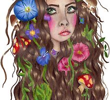 I wish I was a forest fae with flowers in my hair by gabbyloscalzo