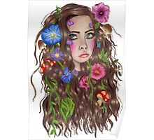 I wish I was a forest fae with flowers in my hair Poster