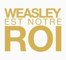 WEASLEY EST NOTRE ROI! One Piece - Short Sleeve