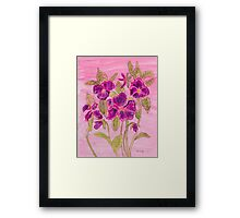 pansies patch Framed Print