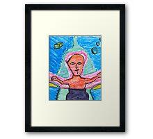 one eared alien Framed Print
