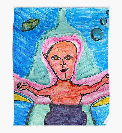 one eared alien Poster