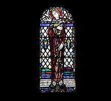St Columba Stain Glass Window Iona Abbey by youmeus
