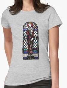 St Columba Stain Glass Window Iona Abbey Womens Fitted T-Shirt