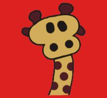 Cartoon Giraffe One Piece - Short Sleeve