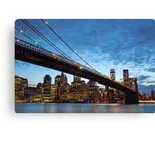 Manhattan by night from Brooklyn, New York City Canvas Print
