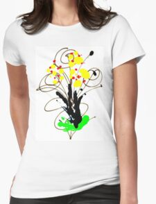 Flowers - Urban Art Womens Fitted T-Shirt