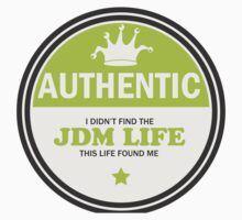 Authentic jdm life found me badge - green Kids Clothes