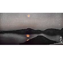 Blood Moon Over Crater Lake Photographic Print