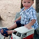 A boy and his toy car by lizzclements